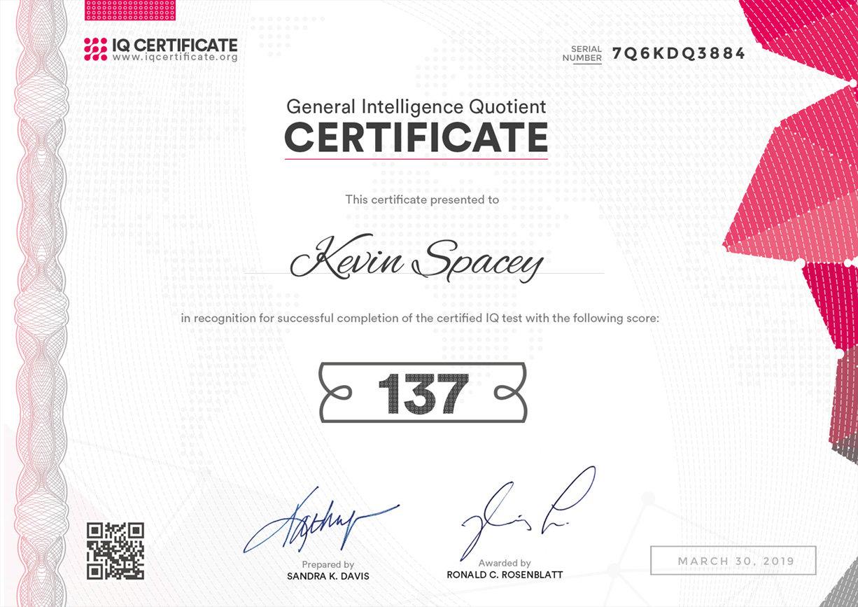 IQ Certification 1