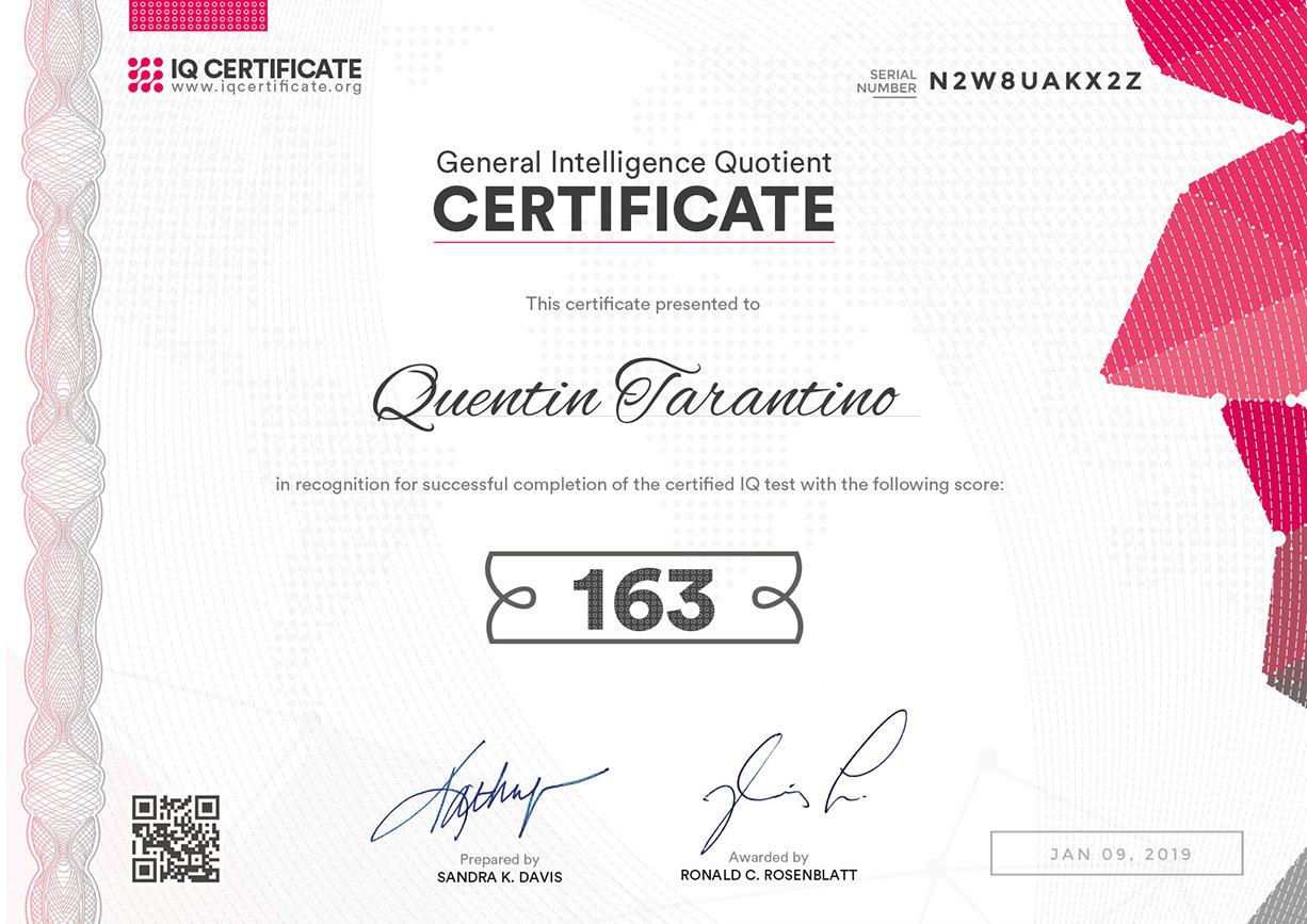 IQ Certification 2