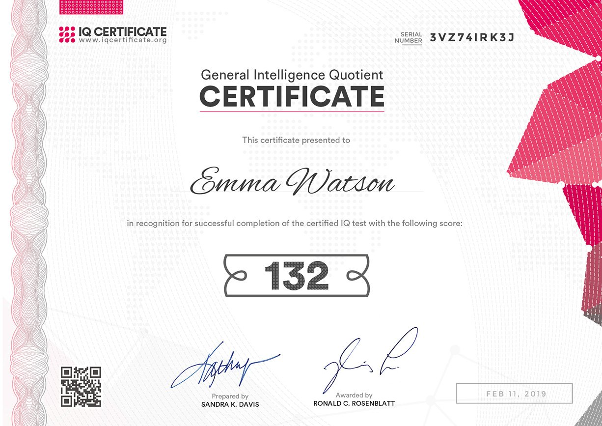 IQ Certification 4