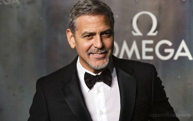 George Clooney IQ Score