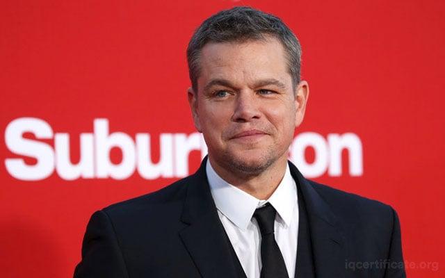 Matt Damon IQ Score