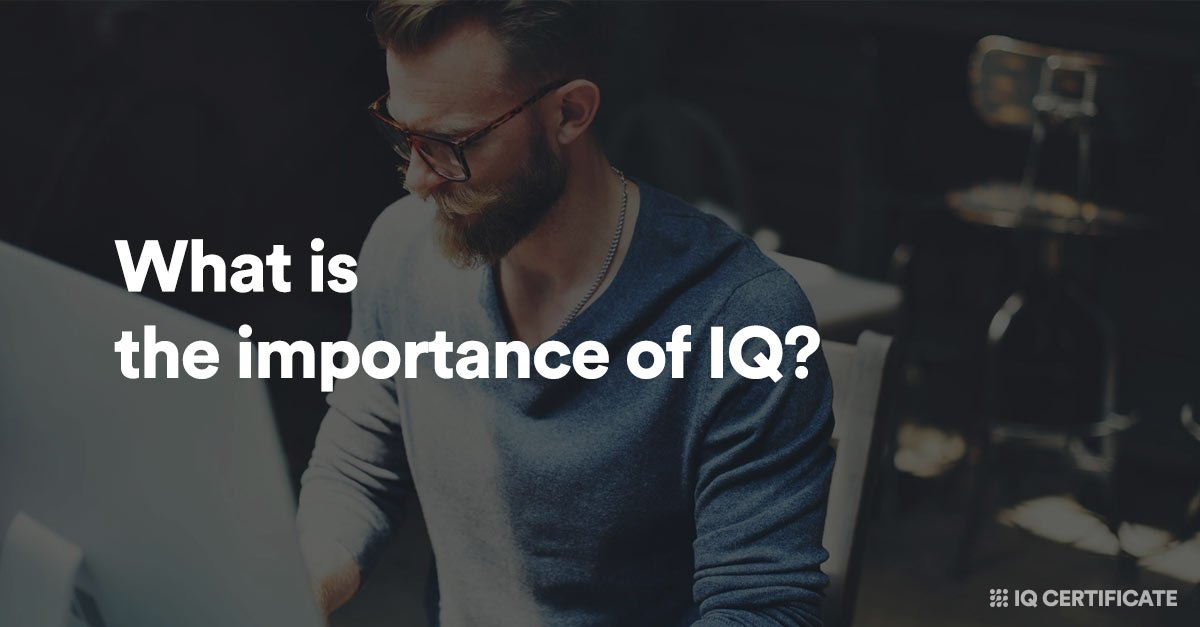 What is the importance of IQ?